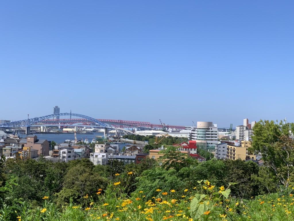 大阪市大正区にある昭和山からの展望
